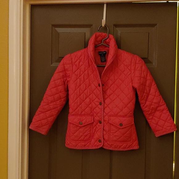 Girl's Pink Barn Jacket by Ralph Lauren